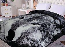 Hiyoko Wolf Animal Mink Blanket Throw Bedspread Comforter Cover 90x75