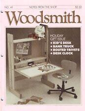 Woodsmith 1985 No 41 Kid's Desk, Bank Truck, Routed Trivets, Desk Clock