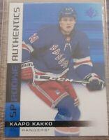 KAAPO KAKKO RC 2019-20 Upper Deck Blue FOIL Authentics ROOKIE #101 Rangers SP