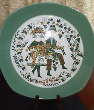 Sicilia by Figgjo Norway Chop Plate Platter Harvest Green 11.5 inches