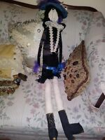 ORIGINAL HANDMADE BOUDOIR DOLL  ART DECO 1920's STYLE FLAPPER  39 Inches