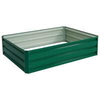Galvanized Steel Raised Garden Planter Bed Planting Box Vegetable Flowers Seeds