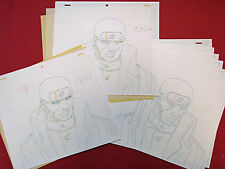 Naruto Anime Genga Douga Drawings for Cel Ibiki Morino Set of 12 Studio Pierrot