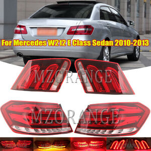 Set LED Light Rear Tail Lamp For Mercedes Benz W212 E Class Sedan 2010 2011-13