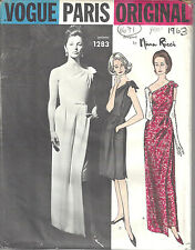 1963 Vintage VOGUE Patron de Couture B34 ROBE COCKTAIL (1671) Nina Ricci