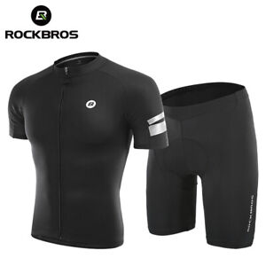 ROCKBROS Summer Cycling Jersey Set Men Women Shorts T-shirt Breathable