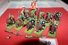 Juegos taller Warhammer orcos Boar Boyz Regimiento pintado figuras de metal fuera de imprenta GW