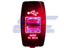 Polaris RZR Red Rocker Switch UTV 900 800 RZR4 Crew XP1000 Ranger XP900 800s RV