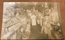 Antique RPPC Real Photo Postcard General Store CT Gold Dust Coal Advertising