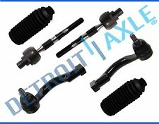 NEW 6pc Inner + Outer Tie Rod End + Rack & Pinion Boots for 2003-09 Kia Sorento