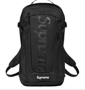 SUPREME BLACK BACKPACK SS21 (IN HAND) OS 100% AUTHENTIC/ BRAND NEW..