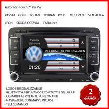 "Autoradio 7"" VW Navigatore GPS Mp3 USB DVD Micro SD Bluetooth Golf Passat Polo"