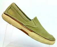Sperry Top Sider Tan Canvas Loafer Slip On Boat Shoes 0835983 Men's 9 M
