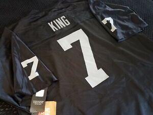 Marquette King Oakland Raiders screen print Reebok jersey NWT sz XL (52 fit)