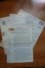 LOT 13001 TIMBRES STAMP VIEUX DOCUMENTS FRANCE ANNEE 1913-1927-1935-1943