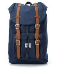 """HERSCHEL """"LITTLE AMERICA"""" MID PLUS BACKPACK IN NAVY AND TAN. 14.5 LITRES. BNWT."""