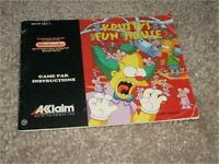 KRUSTY'S FUN HOUSE NINTENDO NES MANUAL