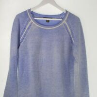 Tommy Bahama Womens Long Sleeve Round Neck Blue Pullover Sweater Size Medium