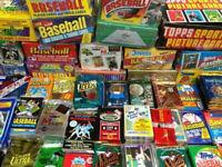 Unopened Vintage Baseball Card Packs - At least 100 Vintage cards unopened packs