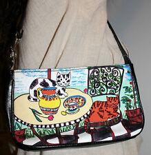 MERONA Handbag Purse Kitty Cat Purse Small Canvas Style Cat Purse