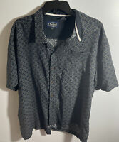 NAT NAST MEN'S SHORT SLEEVE BUTTON FRONT SHIRT SIZE XL