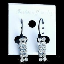 Unbranded Rhinestone Mixed Metals Round Costume Earrings