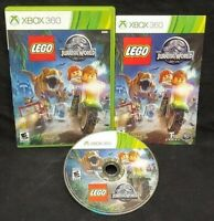 LEGO Jurassic World - XBOX 360 Game - Rare Tested + Working Complete