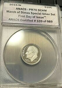 2015-W Roosevelt March of Dime ANACS PR70DCAM Perfect Easily Best Price Ebay CHN