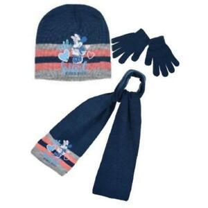 Disney Minnie Kids Hat Scarf and Gloves Set
