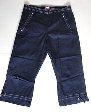 DANSKIN NOW {Size M} Women's Blue Long Wide Leg Athletic Shorts EXCELLENT!