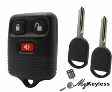 NEW FORD REPLACEMENT KEYLESS ENTRY CAR REMOTE KEY FOB & UNCUT TRANSPONDER KEYS