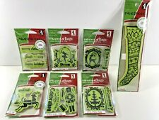 Inkadinkado CHRISTMAS HOLIDAY Cling Unmounted Rubber Stamps LOT of 7 NEW