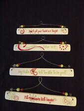 """CERAMIC / WIRE CHRISTMAS SIGNS 4 to choose from 8.25"""" long"""