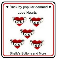 JESSE JAMES BUTTONS ~ DRESS IT UP - LOVE HEARTS  ~ Motorcycle Style Hearts Sew