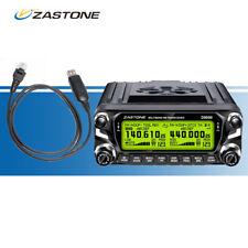 Zastone ZT-D9000 50W Car Mobile Ham FM Radio 50km VHF/UHF Walkie Talkie + Cable