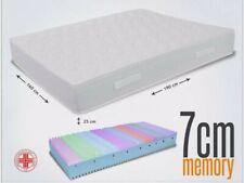 Materasso Matrimoniale Piuma sottovuoto 190x160 Memory Foam 7 cm H25 bianco🌸