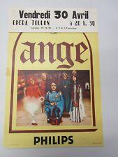 Affiche Vintage Originale Concert Toulon  : ANGE