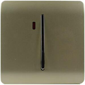 Trendi Artistic Modern Glossy 20 A  Light Switch & Neon Insert Gold ART-WHS1GO