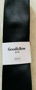 L@@K! NWT Men's Satin Skinny Neck Tie - Goodfellow & Co *Black* One Size SHARP!
