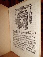 (Siena bandi) BANDO di promessione di gratia o di permutatione alli... (1590)