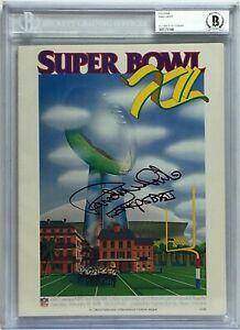 "Randy White Signed Original Football Super Bowl XII Program ""SB XII Co-MVP"" BAS"