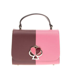 RRP €295 KATE SPADE NEW YORK Leather Satchel Bag HANDCRAFTED Logo Turnlock Flap
