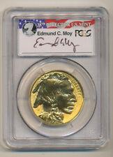2013-W PCGS PR70 FIRST STRIKE Reverse GOLD BUFFALO PROOF MOY Signature $50 1oz