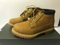 Timberland Women's Wide Nellie Double Waterproof Ankle Boot Wheat Yellow Chukka