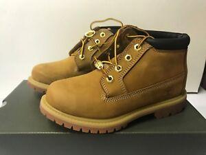 Timberland Women's Nellie Double Waterproof Ankle Boot Wheat Yellow Chukka