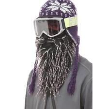 Beardski Daze Black Purple Insulated Thermal Ski Warm Winter Beard Face Mask NEW
