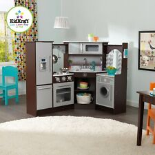 Kidkraft Ultimate Corner Play Kitchen with Sounds and Lights - Espresso Version