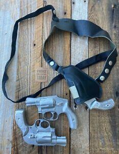 Vintage Marco Black Leather Upside Down Shoulder Holster For J Frame Revolver
