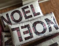 Pottery Barn Noel Complete Lumbar Pillow 12x25 Indoor Outdoor Christmas New