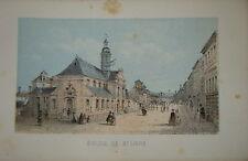 Litho CHATEAU FONTAINEBLEAU EGLISE SAINT LOUIS 1860 NAPOLÉON III C.F.DENECOURT